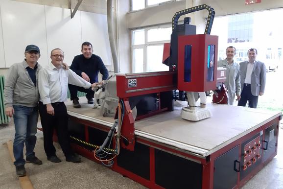 Mobilya Teknolojileri Alanına CNC tezgahı alındı